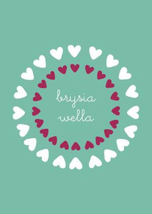 Get well soon card 'Brysia Wella' hearts