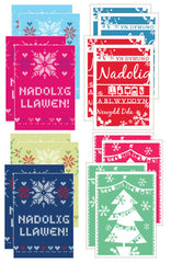Christmas mini cards 'Nadolig Llawen' pack of 4