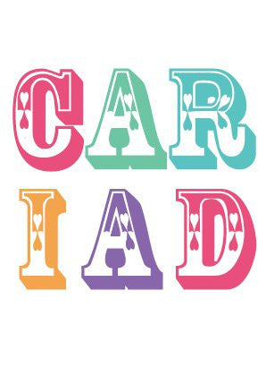 Love card 'Cariad' letters