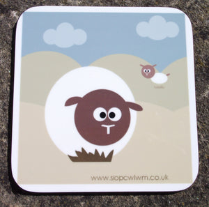 Sheep Wooden Coaster