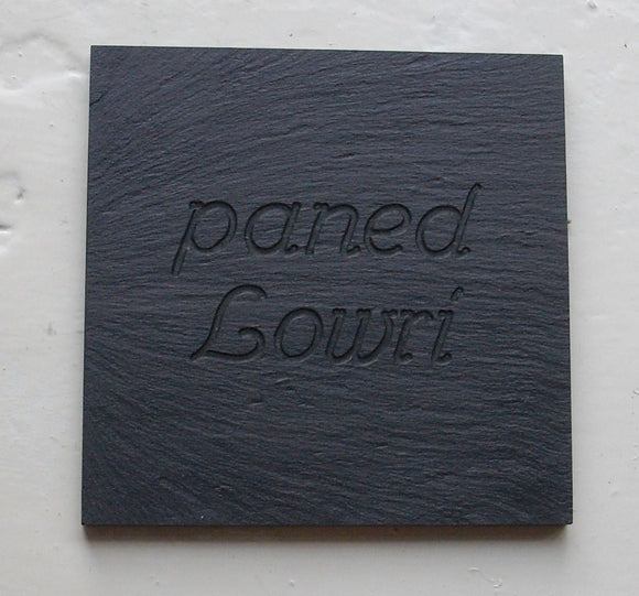 Personalised Welsh slate coaster
