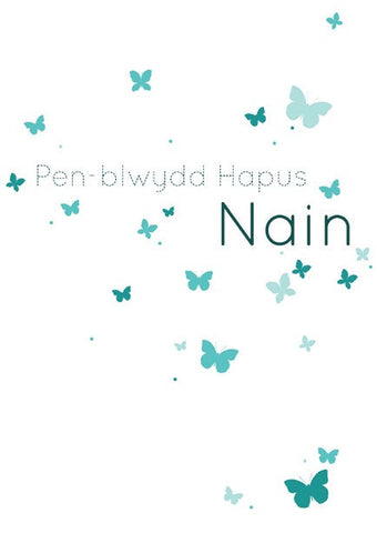 Birthday card 'Pen-blwydd Hapus Nain' grandmother
