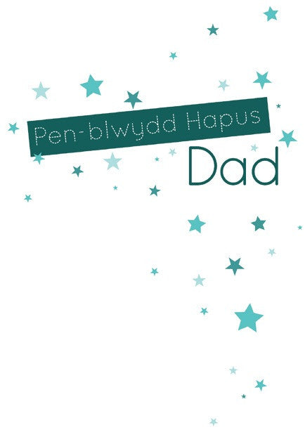 Birthday card 'Pen-blwydd Hapus Dad' dad