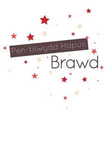 Birthday card 'Pen-blwydd Hapus Brawd' brother