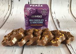 Welsh Milk Chocolate & Honeycomb Snowflakes 96g