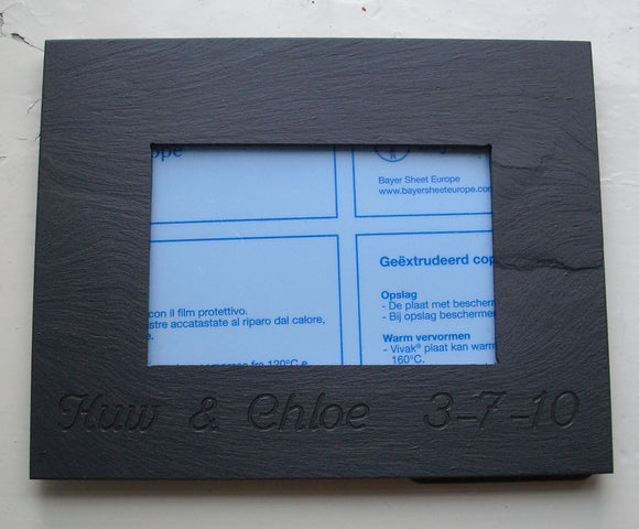 Welsh slate photo frame
