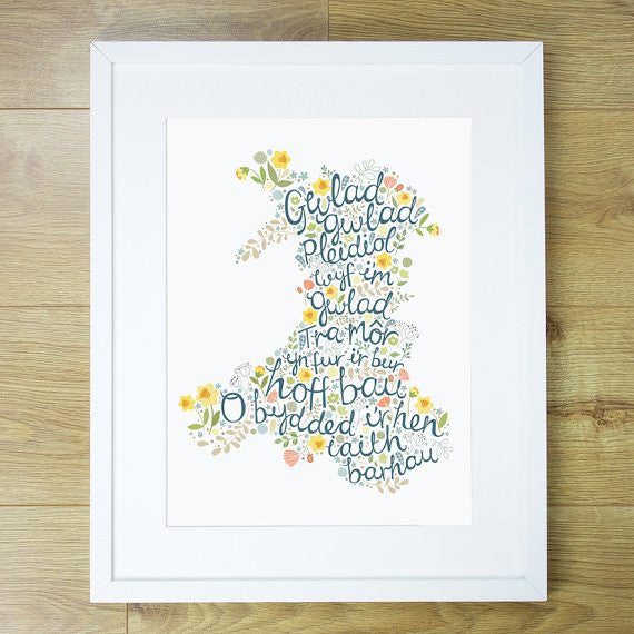Welsh National Anthem Print