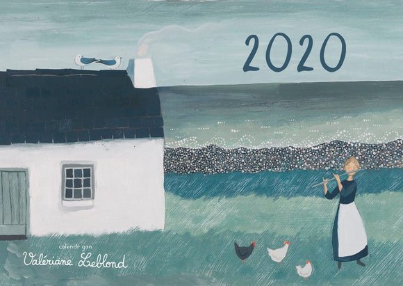 Welsh calendar 2020 - illustrated by Valériane Leblond