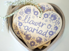 'Llawer o Gariad' wooden heart decoration