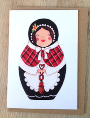 'Angharad' Welsh lady greeting card