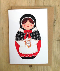 'Myfanwy' Welsh lady greeting card