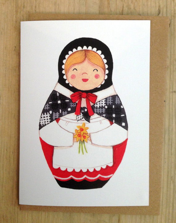 'Heulwen' Welsh lady greeting card