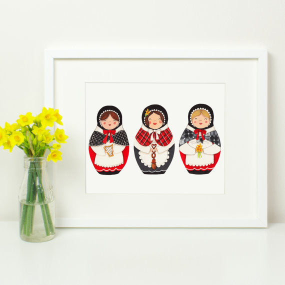 Welsh Ladies Print