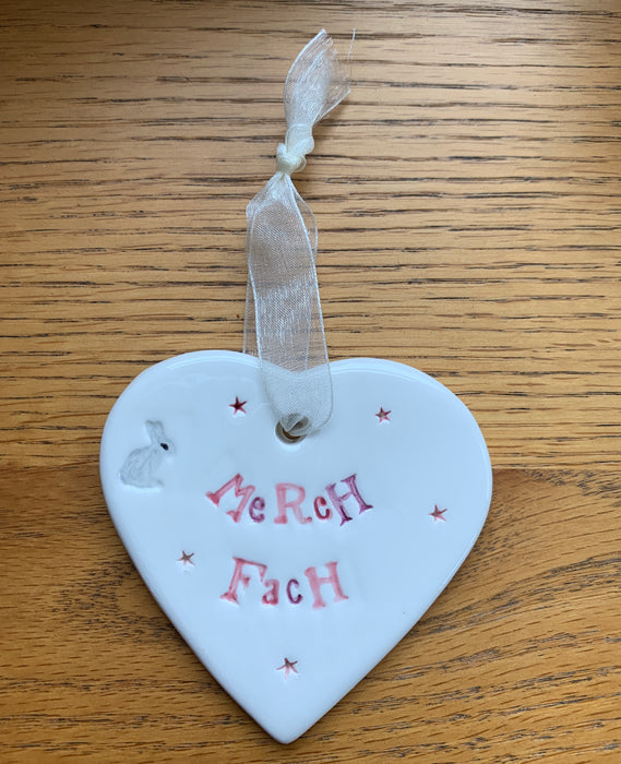 Hand-made Ceramic Heart - Merch Fach