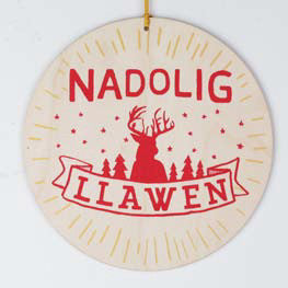'Nadolig Llawen' Large Merry Christmas Tree Decoration
