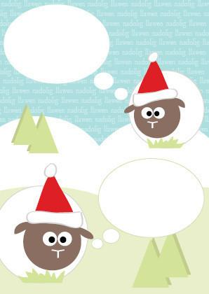 Christmas card - sheep & bubbles