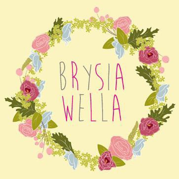 Get well soon card 'Brysia Wella' flower wreath