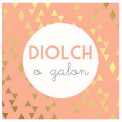 Thank you card 'Diolch o galon'