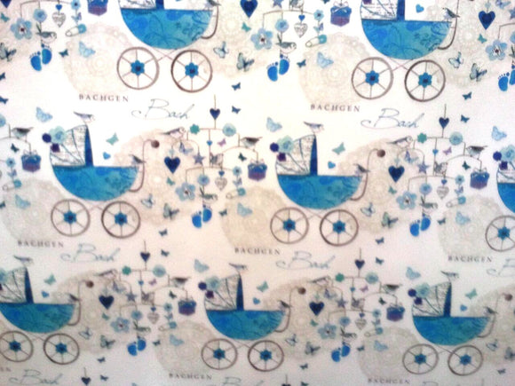 Wrapping paper 'Bachgen Bach' baby boy