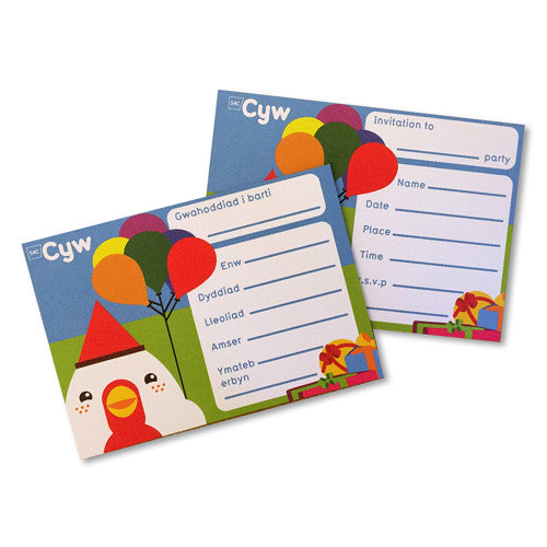 Cyw Party Invites