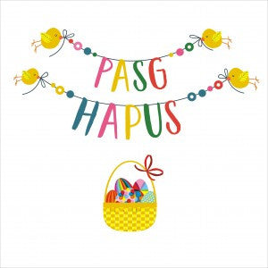 Easter card - Pasg Hapus - Pompoms