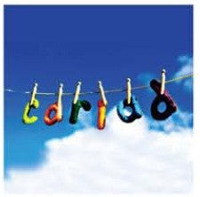 Love card 'Cariad' clothesline