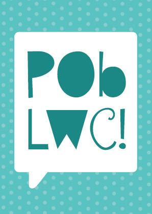Good luck card 'Pob Lwc!' green