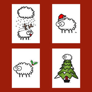 Christmas card pack - Sheep
