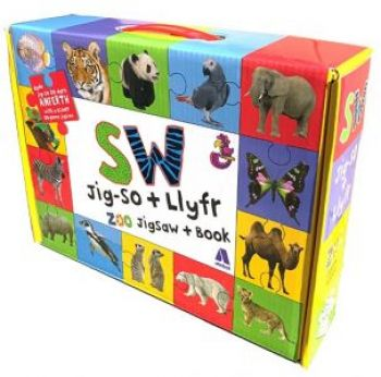 Zoo Jigsaw and Book / Bocs Sw - Jig-So a Llyfr