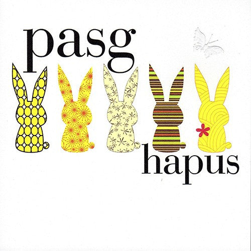 Easter card 'Pasg Hapus'