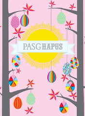 Easter card 'Pasg Hapus' easter egg hunt