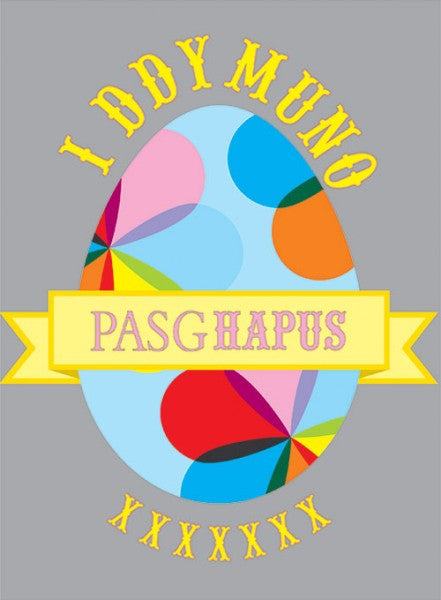 Easter card 'I Ddymuno Pasg Hapus' easter egg