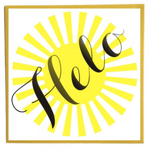 Greetings card 'Helo' hello