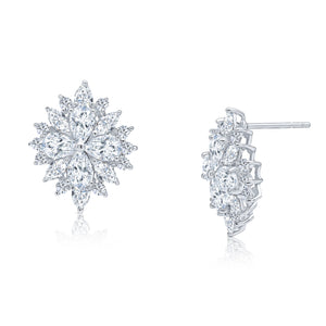 Natasha Earrings (Rhodium)