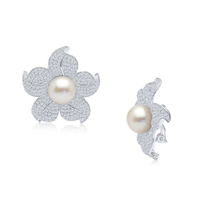 Charlotte Pearl Clip Earrings