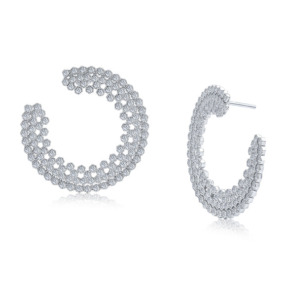 Latifah Earrings (Rhodium)