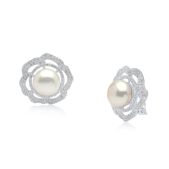 Emilia Pearl Clip Earrings