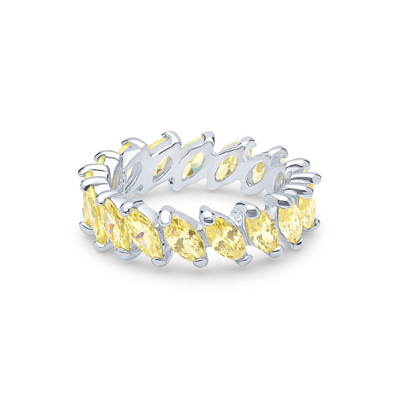 Demeter Eternity Ring (All Canary)