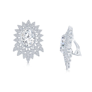 Elizabeth Clip Earrings (All white)