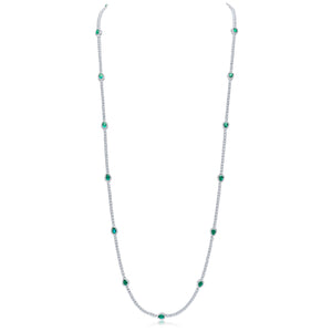 Francine Necklace (Emerald/White)