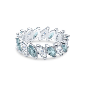 Demeter Eternity Ring (Aqua)