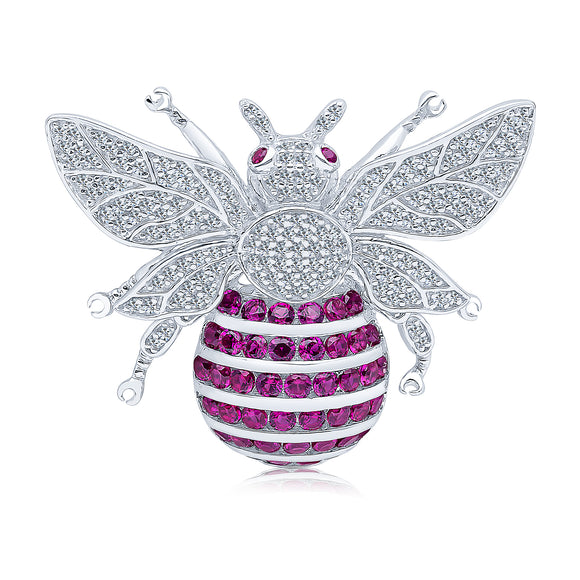 Bee Brooch (Ruby)