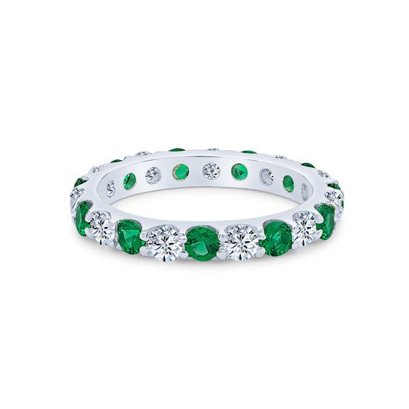 Harmonia Eternity Ring (Emerald)