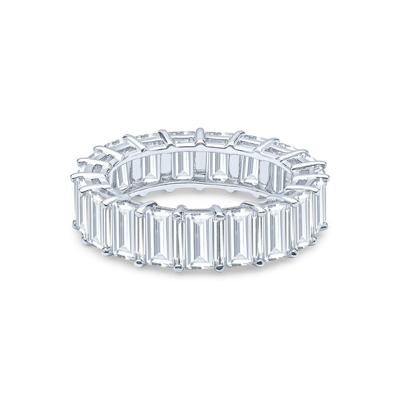 Adara Eternity Ring (Rhodium)