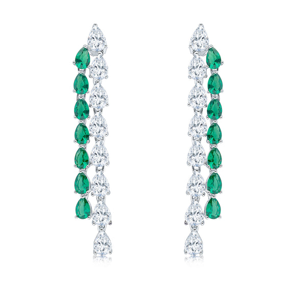 Sapphira Earrings (Emerald)