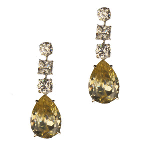 Nia Earrings (White/Canary)