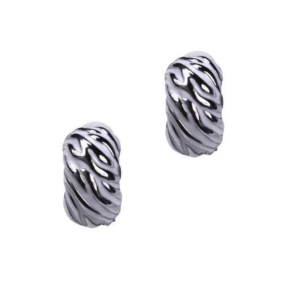Bess Clip Earrings (White)