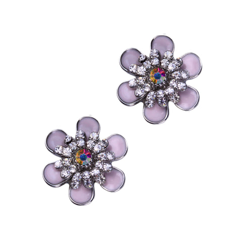Cherish Clip Earrings (Pink)