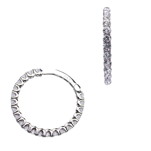 Chloe Earrings (Rhodium)