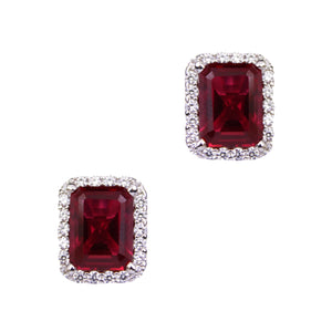 Ciara Earrings (Ruby)